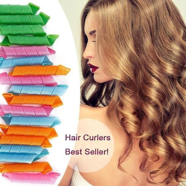 Styles may come and go, but bounding, bouncy curls are timeless! Say goodbye to pins, clips and heat treatments. Our curlersare heatless curling system that are suitable for all hair types. The one-piece silicone hair curler compresses your hair to help speed up the curling process. Wait - no heat? Less waiting? You heard that right! Bring your locks into the 21st century! New patented design won't break, crack or slip out of your hair Medical-grade silicone is hypoallergenic, non-toxi...