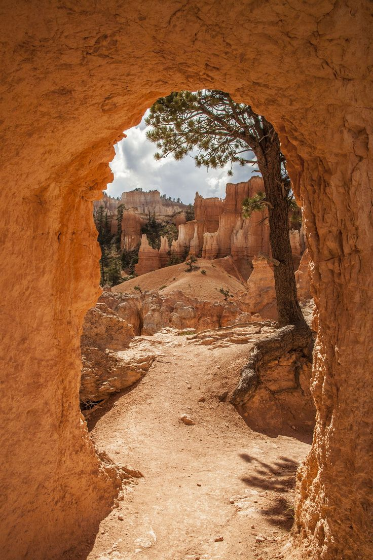 Hiking on Peek-A-Boo Loop Trail at Bryce Canyon National Park.