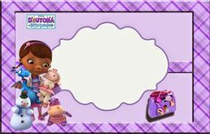 Doc McStuffins: Free Printable Invitation, Cards or Photo Frames.
