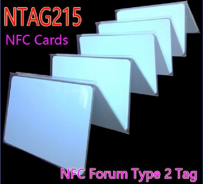 Envío Gratis 10 unids/lote NTAG215 Tarjetas NFC NFC Forum Tipo 2 Tag 13.56 MHz ISO/IEC 14443 A Tarjeta para Todos Los Teléfonos móviles NFC RFID