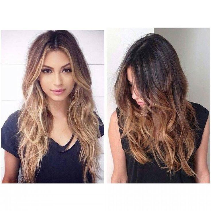 """Стильный окрас волос """"омбре"""" представляет собой двухтональное окрашивание: от корней и до середины длины сохраняется натуральный оттенок далее следует мягкий и плавный переход в другой цвет.от 2500р #омбре #шатуш#салонкрасоты #калифорнийскоемелирование #модноеокрашивание #look #miss#hair#style by asya_hairdresser_stilist"""
