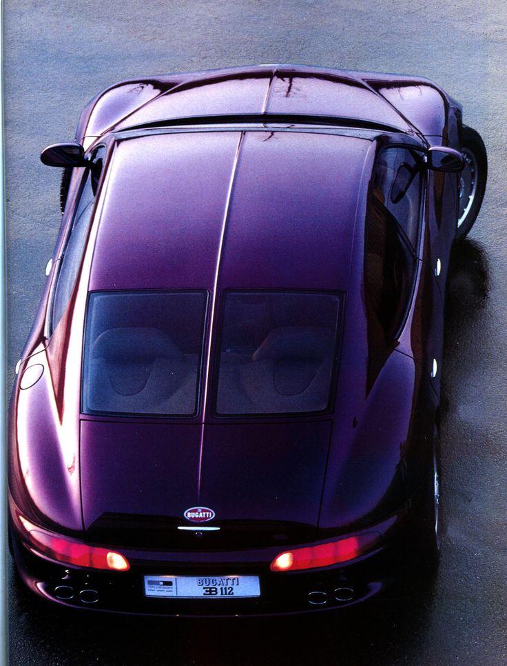 """Bugatti EB 112 (V12 / 6 litres / 455 ch. / """"300 km/h"""") Giorgetto Giugiaro pour Italdesign - Automobiles Classiques N°56 juin-juillet 1993."""