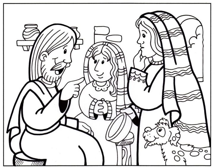 17 best Mary and Martha Coloring Pages images on Pinterest ...