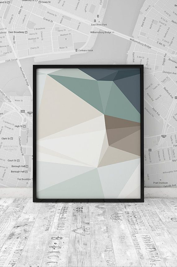 Wall Art, Minimalist Print, Abstract Poster, Geometric Print, Triangle Art, Home…