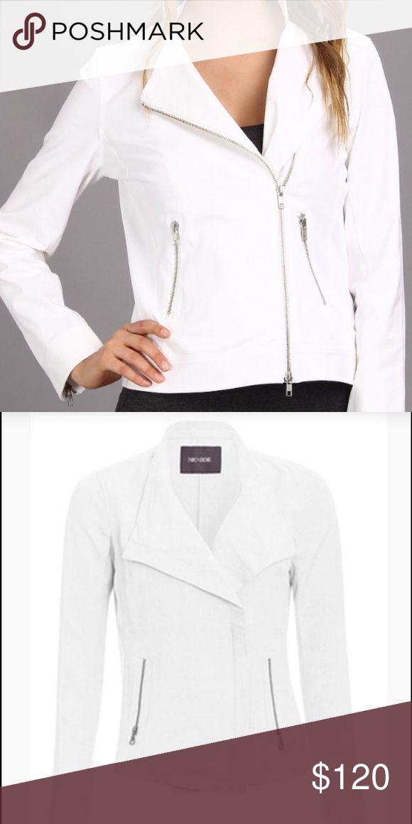 Sundown Moto Jacket  White - Nic+Zoe Sundown Moto Jacket  White - Nic+Zoe - Small NIC + ZOE Jackets & Coats