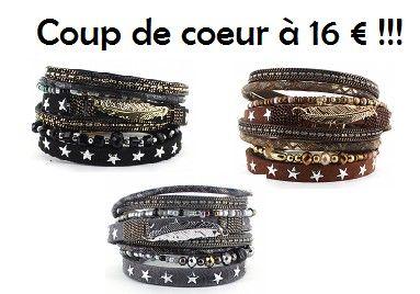 Bracelet multi rangs à petit prix.