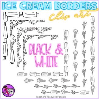 Summer ice cream borders! This set includes 8 unique borders both small and large and includes a range of different ice creams including 99 flakes, ice cream cones and popsicles!All images are black and white in this version, they are all 300dpi png and come in both transparent and white filled versions: great for layering your summer themed resources!***************************************************************************Check out these other great related products!