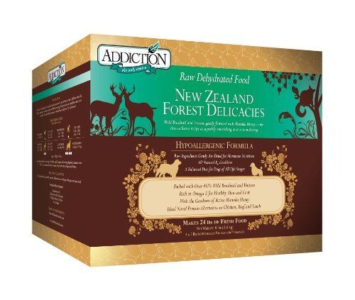 Addiction Raw Dehydrated Dog Food, New Zealand Forest Delicacies, 8lbs - http://www.thepuppy.org/addiction-raw-dehydrated-dog-food-new-zealand-forest-delicacies-8lbs/