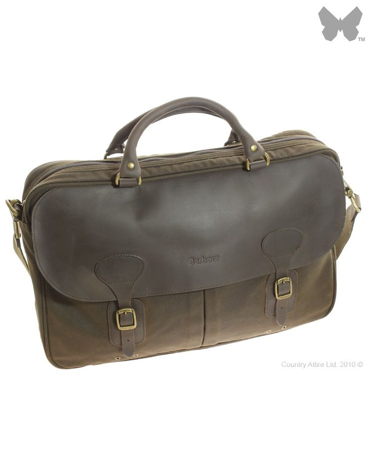 Barbour Wax Leather Briefcase - Olive UBA0004OL71 (B9004) - Ladies' Designer Bags - WOMEN | Country Attire