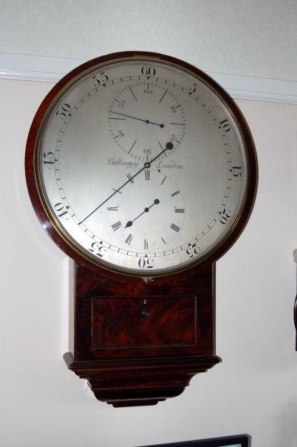 Rare fusee wall clock by Vulliamy London