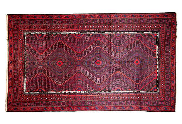 """One Kings Lane - Uncommon Ground - 7'7""""x12'10"""" Santos Rug, Red LIVING"""