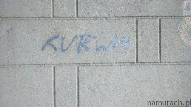 Kurwa - graffiti Wrocław #kurwa #graffiti #Wrocław