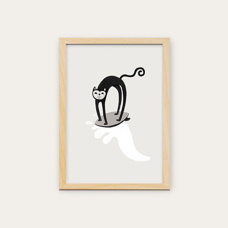 Posters disponíveis em vários formatos. Para comprar entre em contato com o pessoal da @in8_home #kidsdecor #quartoinfantil #decoracaobebe #frames #walldecor #kids #artwork #crianca #decoracao #arcoiris #interiores #love #in8home #quartobebe #quadros #poster #parededivertida #estudiomanolo #gato #surfista