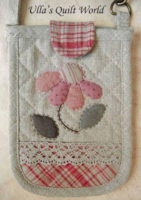 Ulla's Quilt World: Quilt bag - Japanese patchwork love the flower