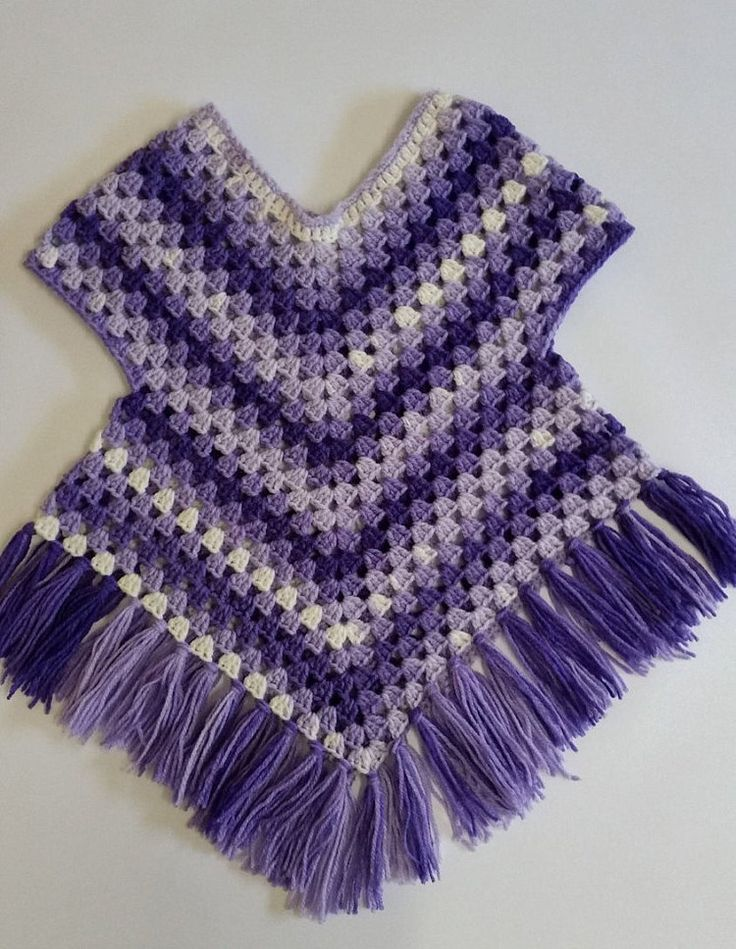 Purple poncho sweater crochet Poncho with arms by Addicted2theHook
