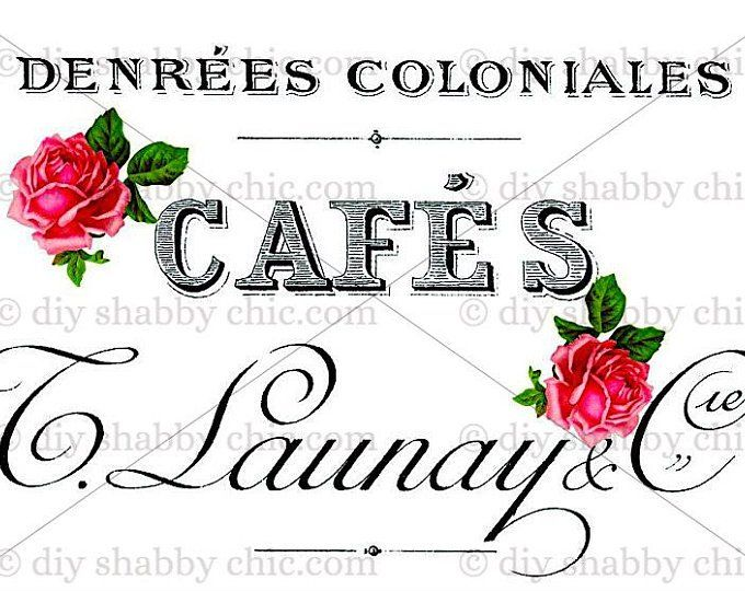 Furniture decals shabby chic french image transfer vintage
