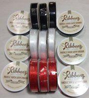 Satin Ribbon 6mm - Mixed 3pack