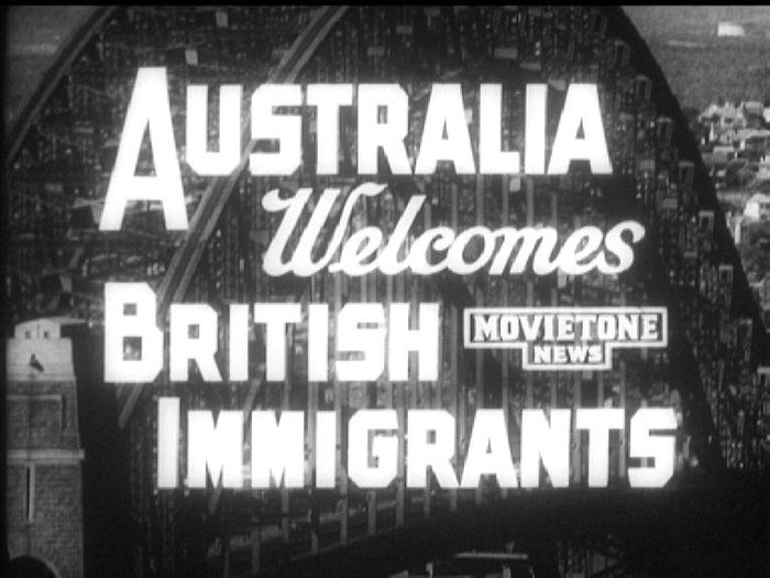 British immigrants welcomed to Sydney - History (6). After World War II, many British families migrated to Australia in search of a better life. The Australian Government also introduced a scheme for the migration to Australia of very poor or orphaned children. Influenced by the 'White Australia policy', Australia preferred British immigrants rather than people from other parts of war-torn Europe. This video shows the arrival of some of more than 1,500 migrants in their adopted home.