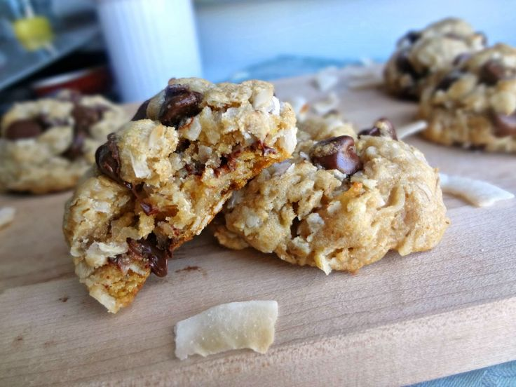 Coconut Oatmeal Chocolate Chip Cookies. All my favorite cookies rolled ...
