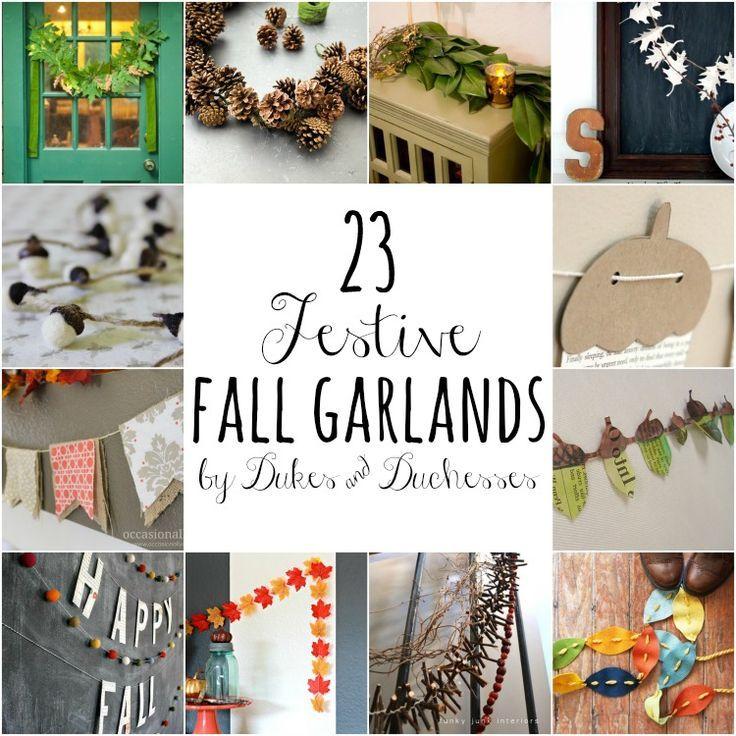 23 festive fall garlands
