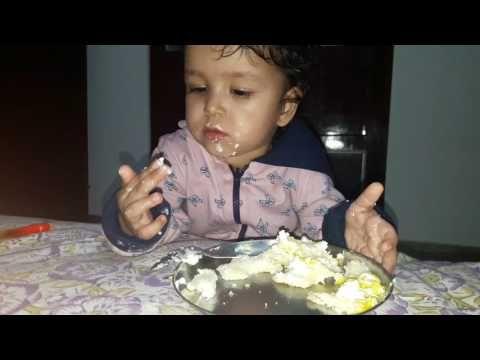 Advika Eating Cake