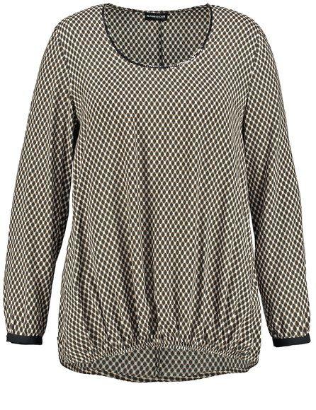 Het vloeiende en grafische all-over ontwerp maken deze blouse. Vrouwelijke casual stijl met elastische verzamelde zoom, smal contrast manchetten en ee... Bekijk op http://www.grotematenwebshop.nl/product/vrouwelijke-casual-tuniek-blouse/