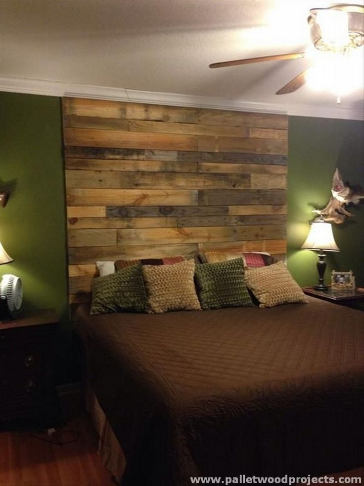 Reused Pallet Headboard
