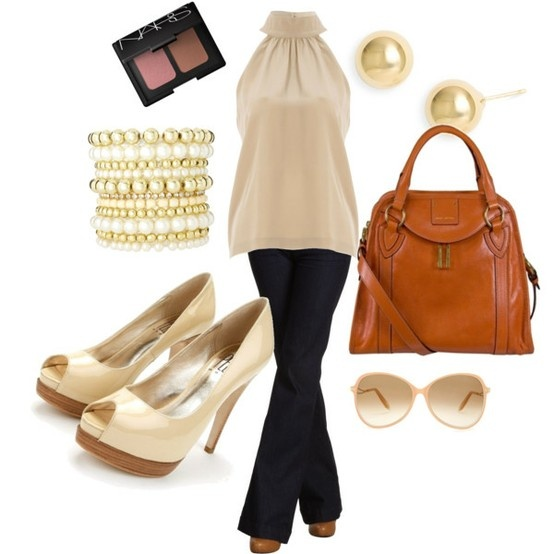 love this outfit: Cute Tops, Fashion Ideas, Lanterns Polyvore, Bar Outfit, Fashion Style, Juicy Couture, Casual Elegant, Clothing Outfit, Casual Date