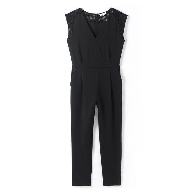 Combinaison pantalon, manches courtes détails rési
