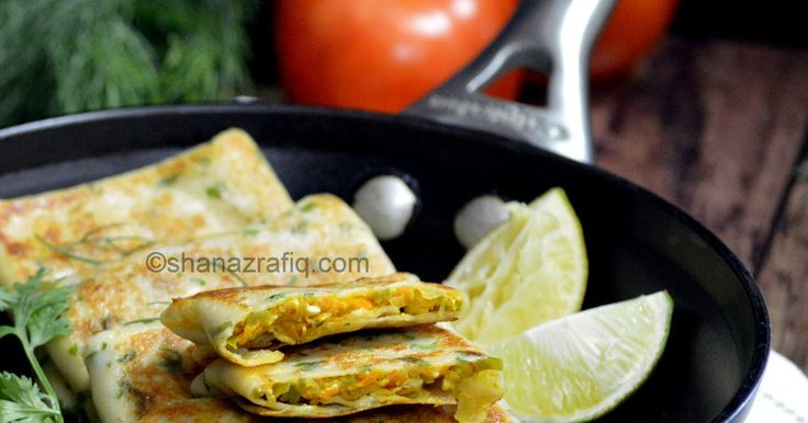 Vegetable Cheese Crepes, Vegetable Crepes recipe, Savoury crepes recipe