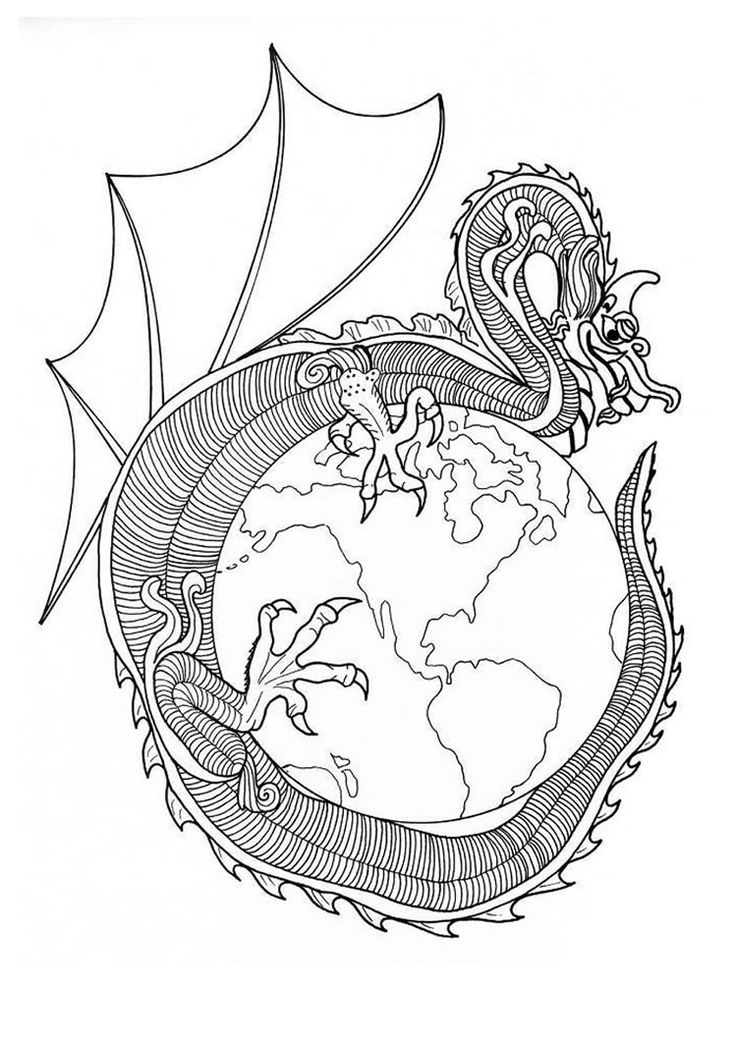 Dragon Mandalas To Print And Color Are A Great Way Focus Attention Center Yourself You Live Find The Best Mandala Coloring Pages