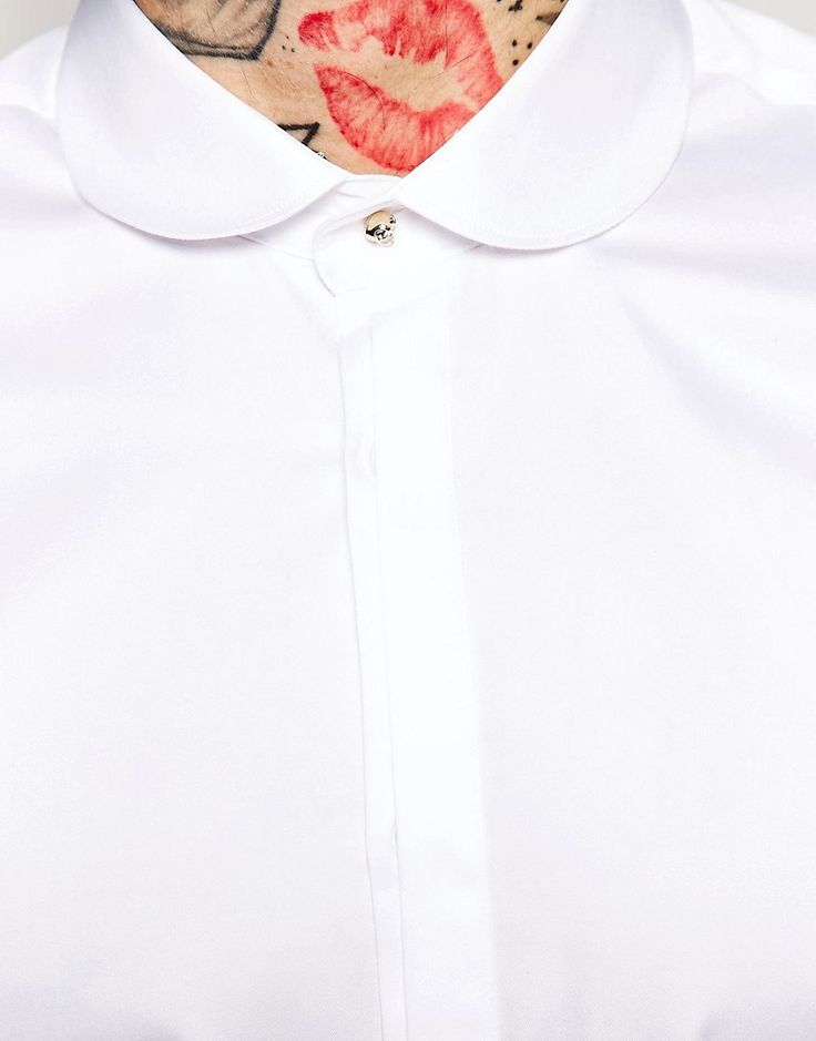 Image 2 ofNoose & Monkey Shirt With Penny Collar In Skinny Fit