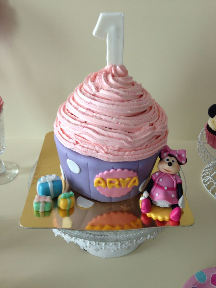 Giant Cupcake cake for first birthday