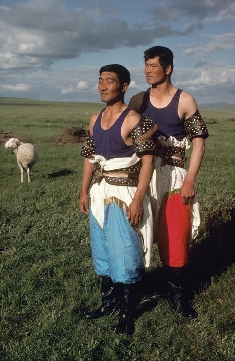 China. Inner Mongolia. Wrestlers. 1979.