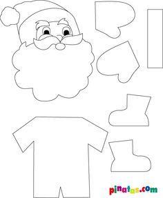 santa claus cut out template craft christmas pinterest santa