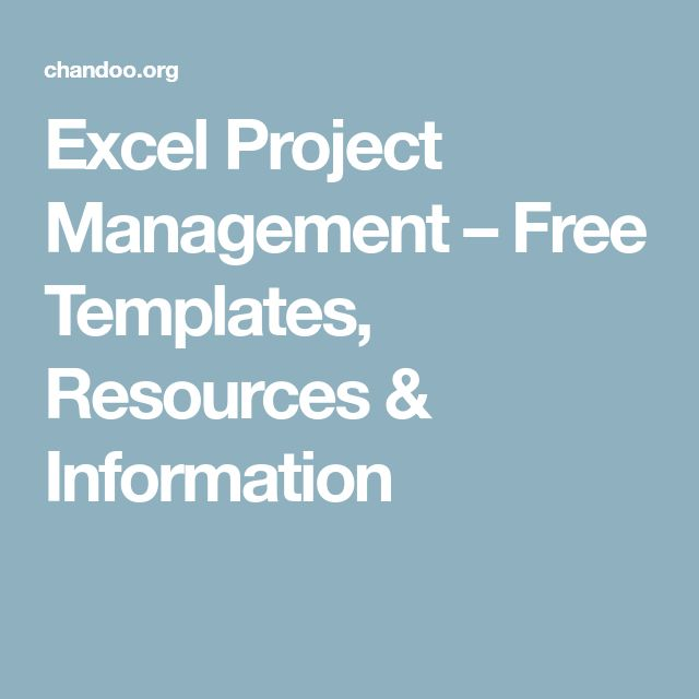 Excel Project Management – Free Templates, Resources & Information