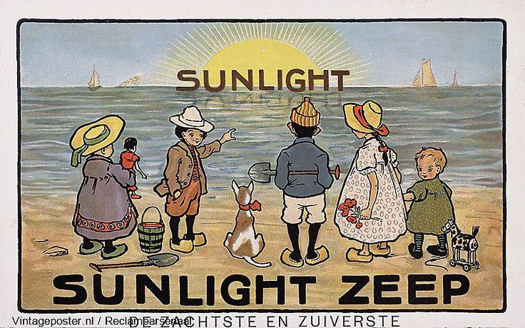 Reclame affiches | 1900-1925 | Sunlight Zeep.De zachtste en zuiverste | Vintageposter.nl | Vintage Posters | Historische Posters | Historische Posters