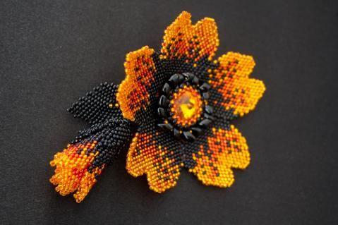http://biser.info/user/62177 #beadwork #beading #flower