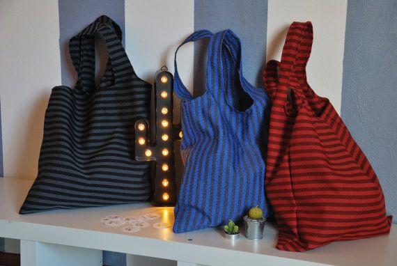shopping bag nera di CactusDesignCose su Etsy