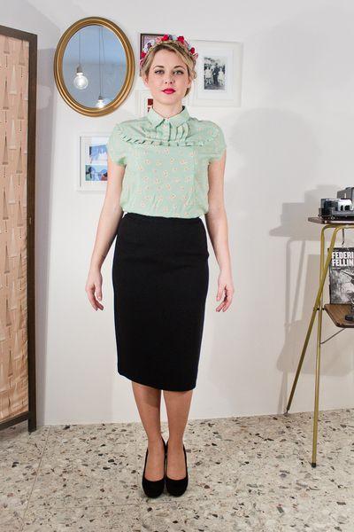 camicetta riproduzione anni50, verde menta  di  Greetzfromtiz  ♥ A vintage way of life ♥  su DaWanda.com