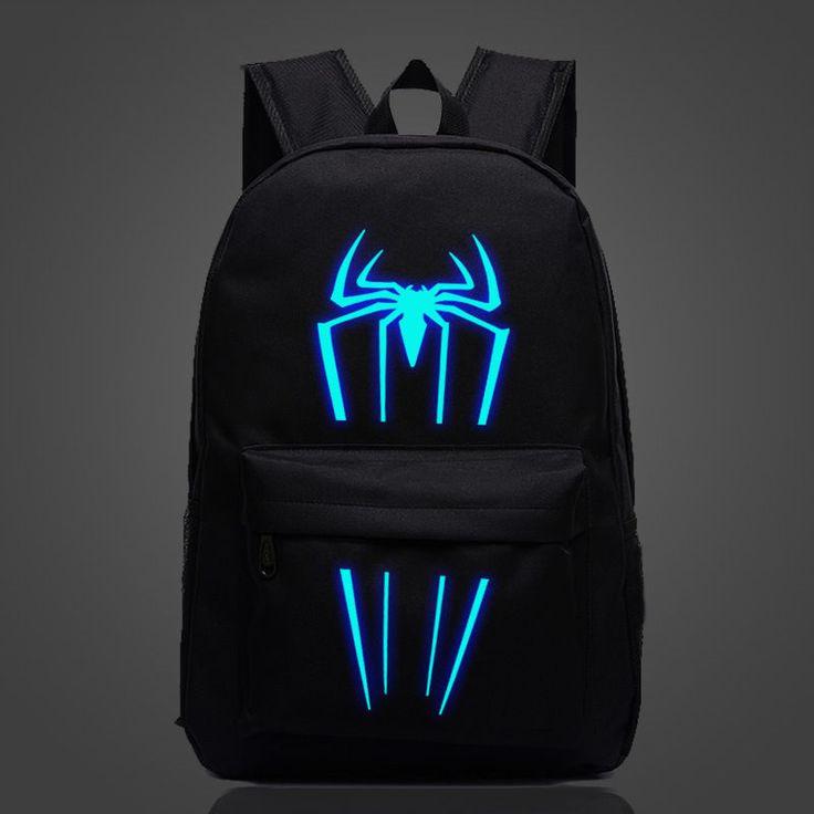 Marvel Comics Avengers SPIDERMAN Luminous Backpack Student School Bag ay02