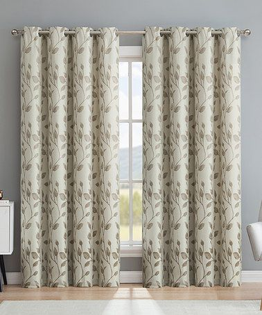 me taupe rona floral thermal blackout curtain panel set of two