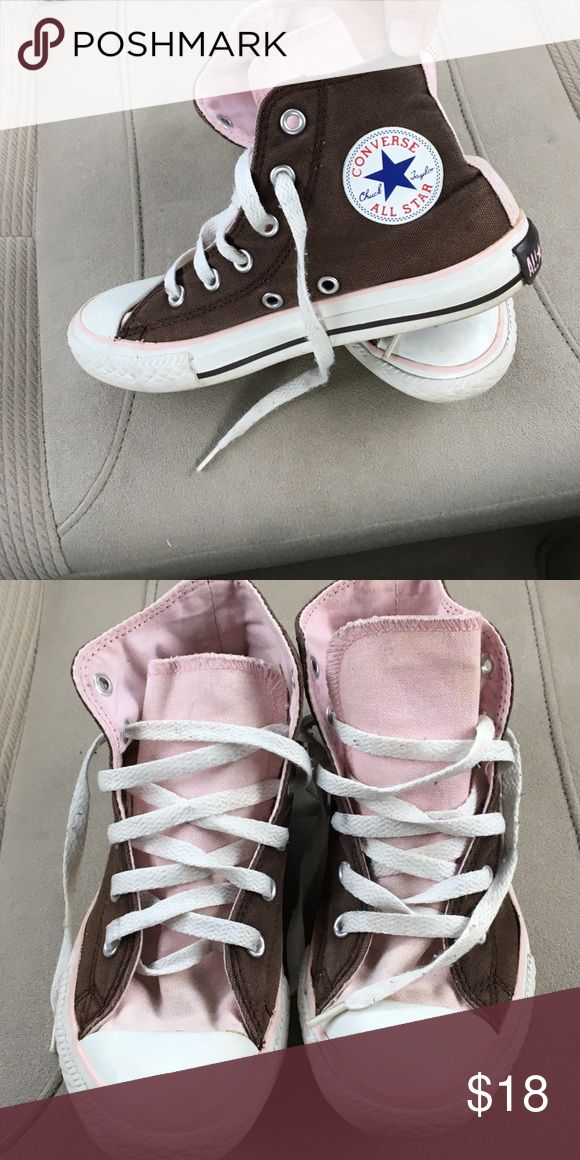 Converse Kids Hightops Size 1 Converse Hightop Tennis Shoes Size 1 for girls gently worn questions welcome ;) could use some new bright shoelaces ;) Converse Shoes Sneakers
