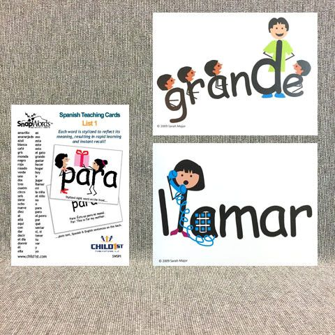 SnapWords® Spanish List 1 Teaching Cards