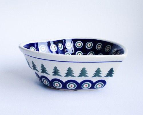 Heart Serving Bowl/Oven Dish  #Christmas #Boleslawiec #polishpottery #potterycorne