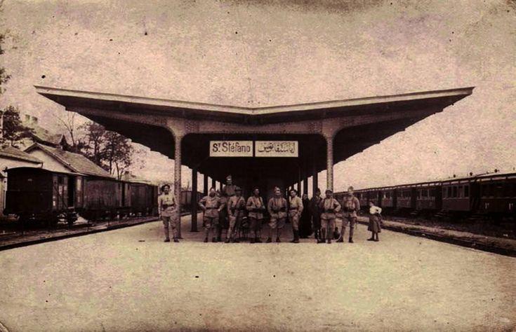 İşgal yıllarında Yeşilköy Tren İstasyonu