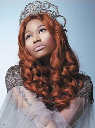 Does Nicki Minaj Wear A Wig Auburn Without Bangs Long Cheap #Nickiminajhairstyle #Celebritywigsbobs