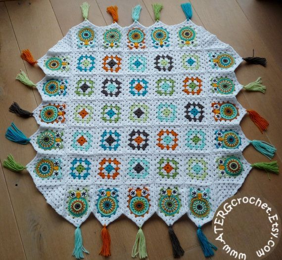 Cute too! | Crystal Evans | Crochet pattern owl granny square baby blanket by by ATERGcrochet
