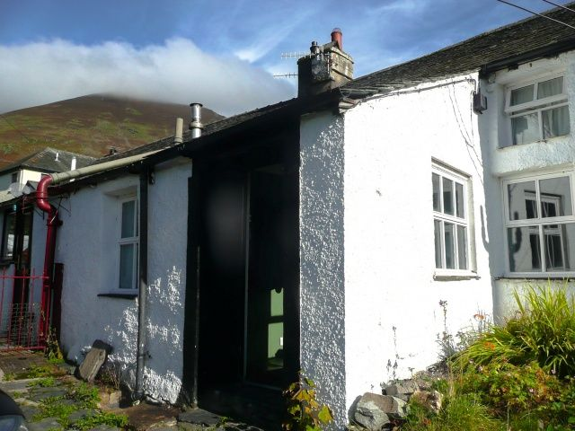 Entrance to Blease Garth with Blencathra beyond | Sally's Lake District Cottages