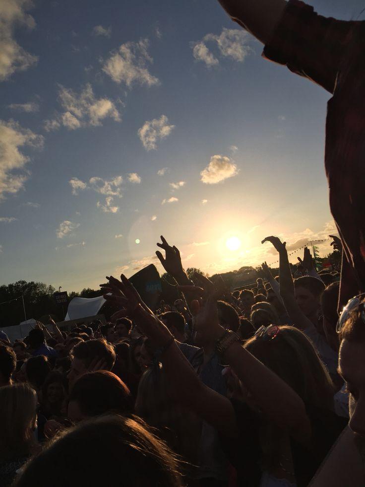 Music festival sunset